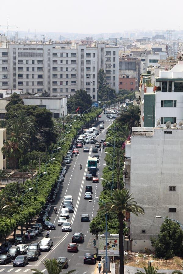 Stadt von Casablanca, Marokko lizenzfreie stockbilder