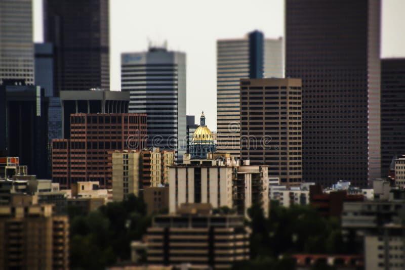 Stadt von Denver Colorado lizenzfreie stockbilder