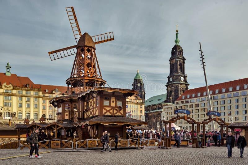 Stadt von Dresden sachsen deutschland Mitte der alten Stadt stockfotografie