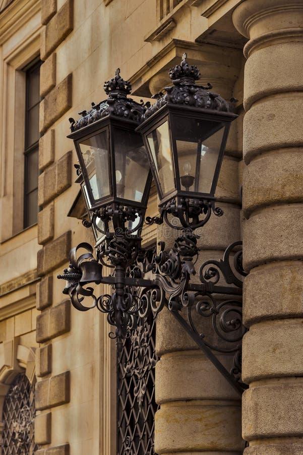 Stadt von Dresden sachsen deutschland Mitte der alten Stadt stockfotos