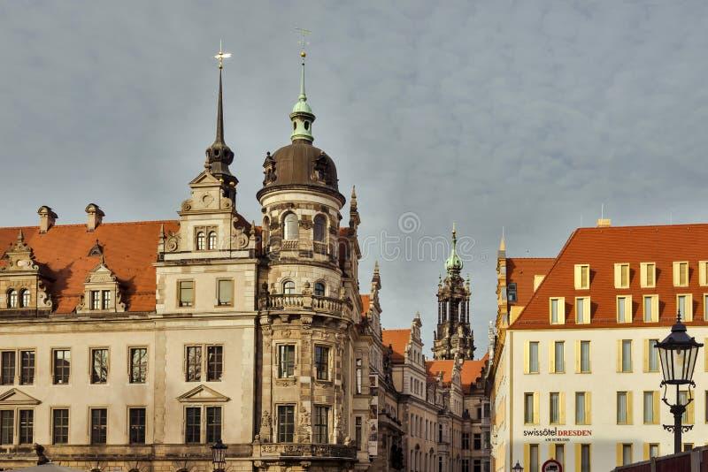 Stadt von Dresden sachsen deutschland Mitte der alten Stadt stockbilder
