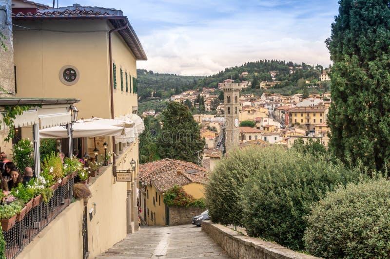 Stadt von Fiesole, Italien stockbild