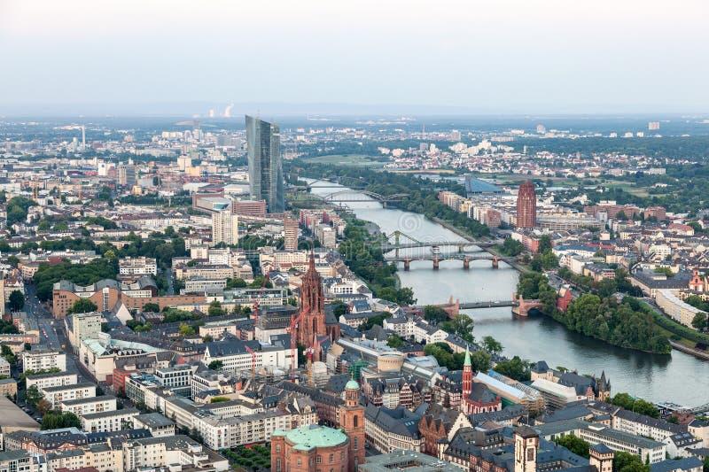 Stadt von Frankfurt-Hauptleitung, Deutschland lizenzfreies stockbild
