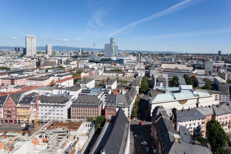 Stadt von Frankfurt-Hauptleitung, Deutschland stockbilder