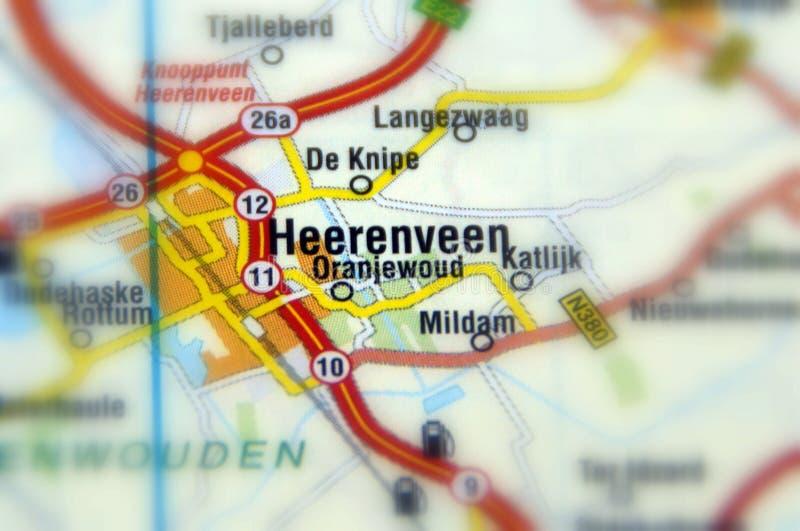 Stadt von Heerenveen - Niederlanden lizenzfreies stockfoto