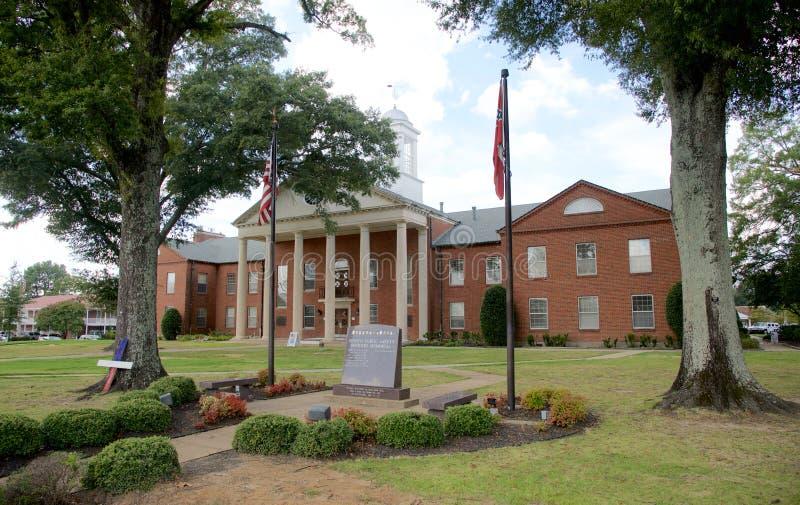 Stadt von Hernando Courthouse, Hernando, Mississippi lizenzfreie stockbilder