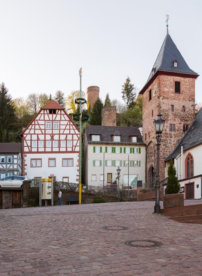 stadt von hirschhorn hessen deutschland stockbild bild von europa tourismus 31704923. Black Bedroom Furniture Sets. Home Design Ideas