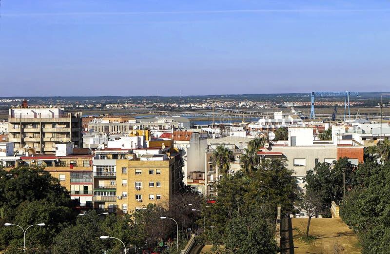 Stadt von Huelva, Andalusien, Spanien stockfotos