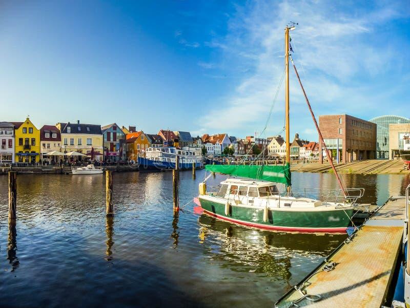 Stadt von Husum, Nordfriesland, Schleswig-Holstein, Deutschland lizenzfreies stockfoto