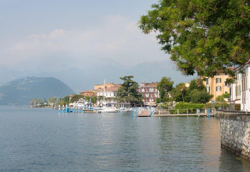 Stadt von Iseo, Lombardei, Italien lizenzfreies stockfoto