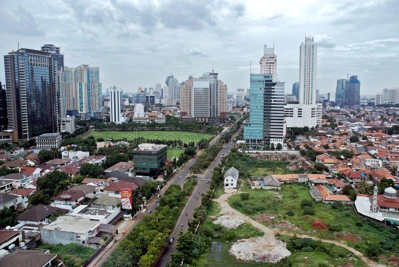 Stadt von Jakarta lizenzfreie stockfotos