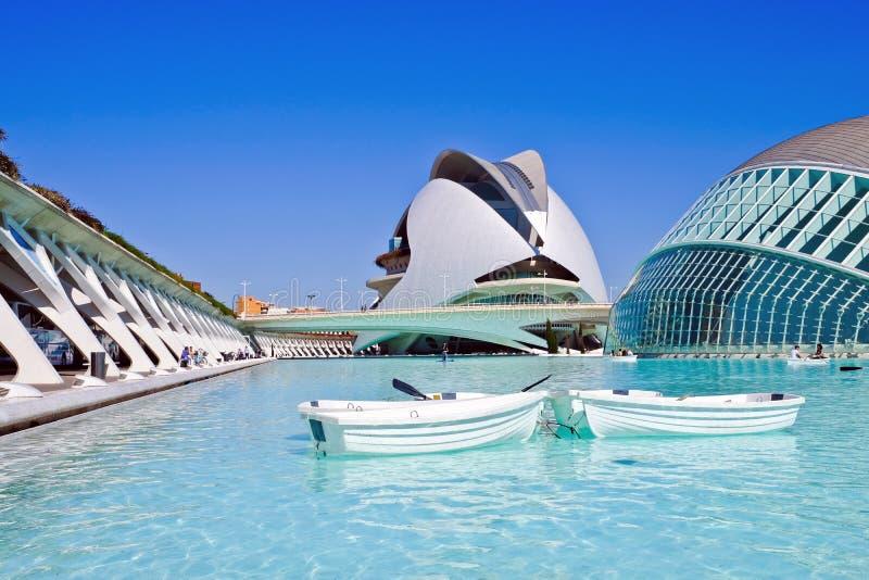 Stadt von Künsten und von Wissenschaften, Valencia, Spanien lizenzfreies stockbild