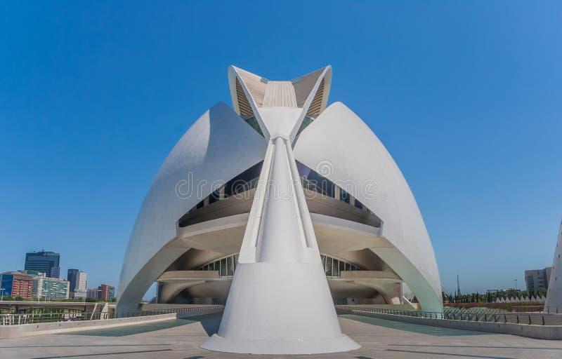 Stadt von Künsten und von Wissenschaft in Valencia stockbild