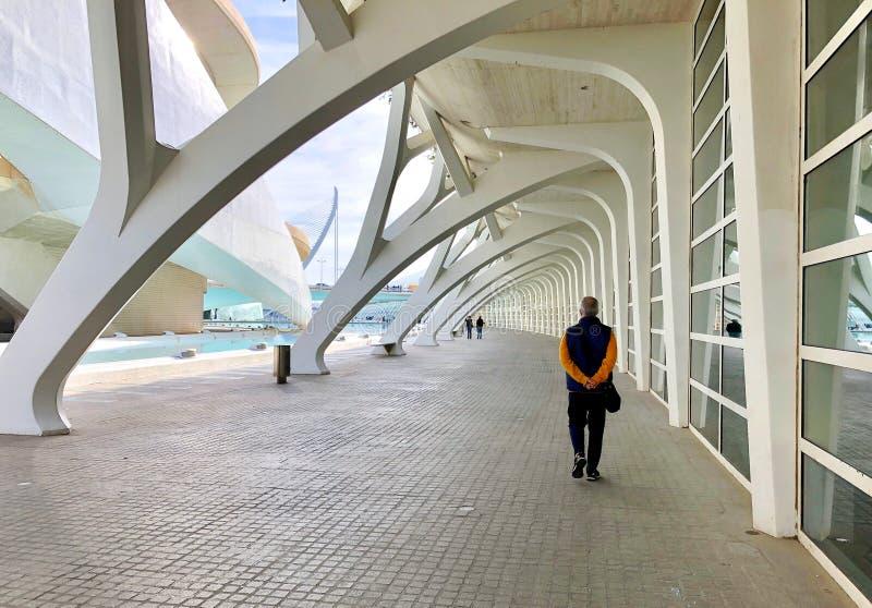 Stadt von Künsten und von Wissenschaften, Valencia, Spanien lizenzfreies stockfoto