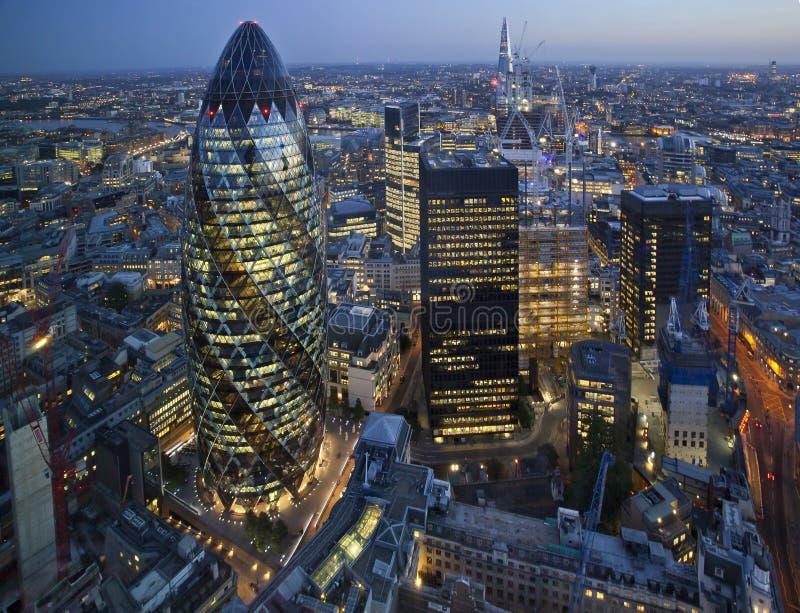 Stadt von London, Großbritannien stockfotografie