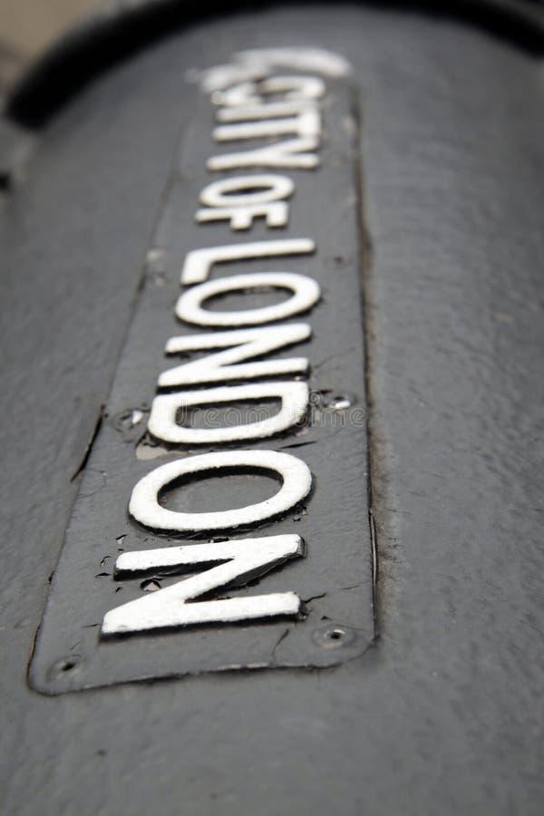 Stadt von London-Zeichen lizenzfreies stockfoto