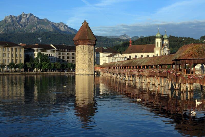 Stadt von Luzerne in der Schweiz lizenzfreie stockfotos