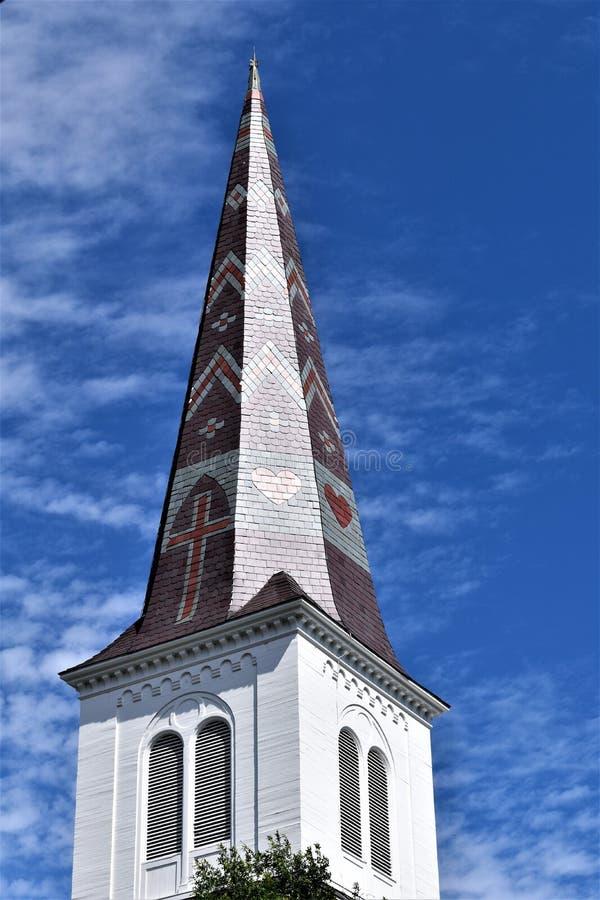 Stadt von Montpelier, Washington County, Vermont, Vereinigte Staaten, Landeshauptstadt lizenzfreies stockfoto