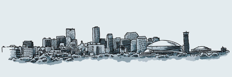 Stadt von New Orleans lizenzfreie abbildung