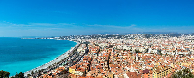Stadt von Nizza lizenzfreies stockfoto