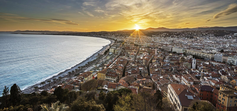 Stadt von Nizza stockbilder
