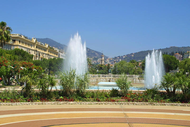 Stadt von Nizza, Frankreich lizenzfreies stockbild