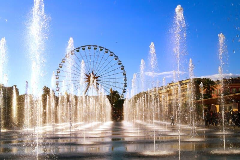 Stadt von Nizza im Winter lizenzfreie stockfotos