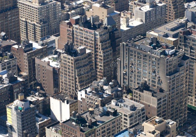 Stadt von oben lizenzfreie stockfotografie