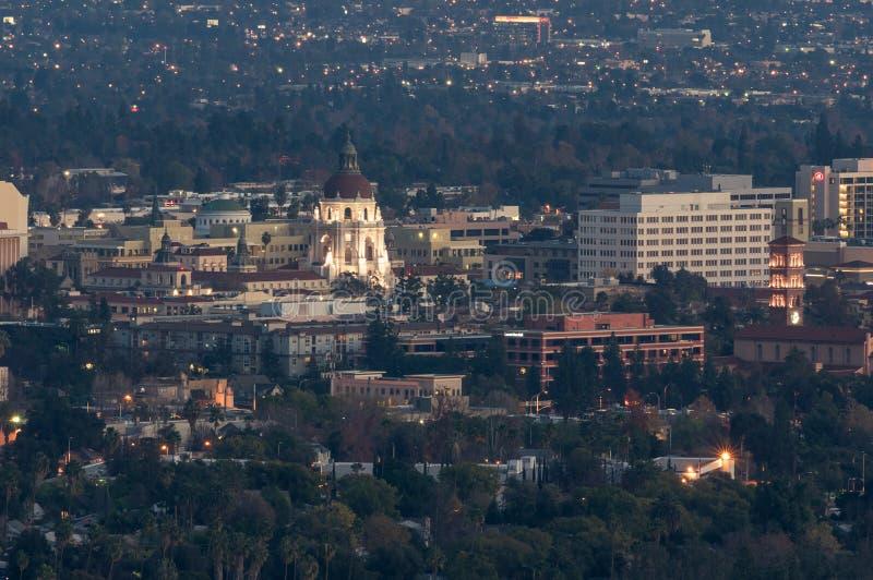 Stadt von Pasadena von oben lizenzfreies stockbild