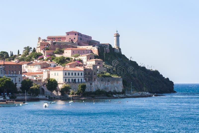 Stadt von Portoferraio, Elba-Insel Italien lizenzfreies stockbild