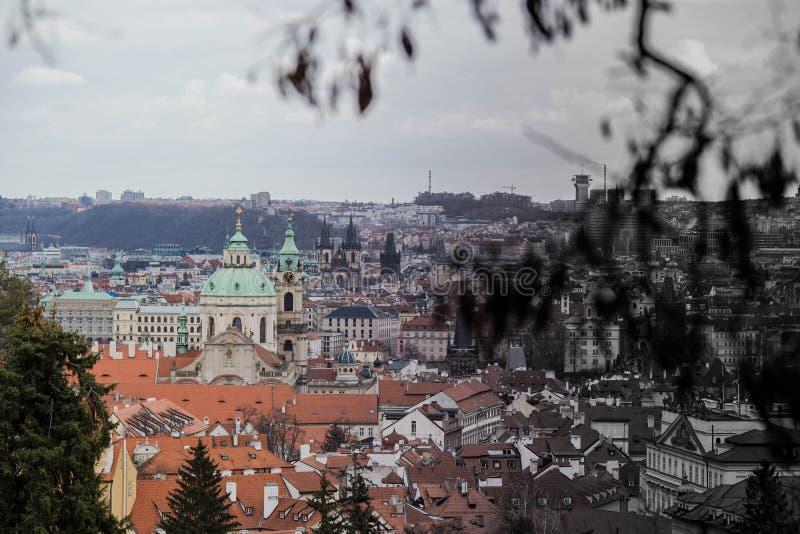 Stadt von Prag, schöne Architektur von Prag Landschaftsansicht am 14. März 2019 lizenzfreie stockfotos