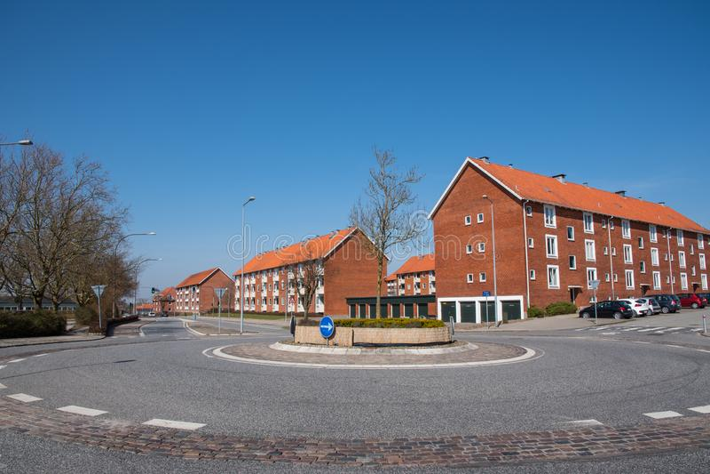 Stadt von Ringsted in D?nemark lizenzfreie stockfotografie