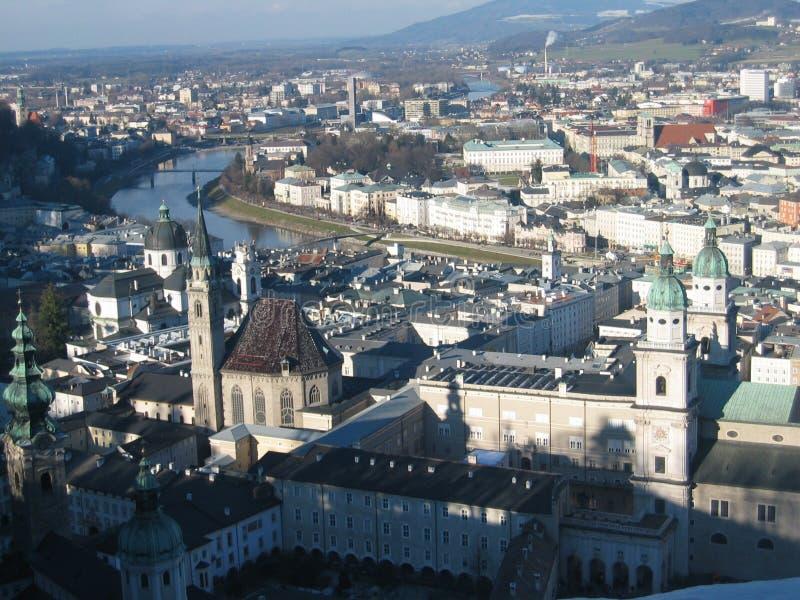 Stadt von Salzburg lizenzfreie stockfotos
