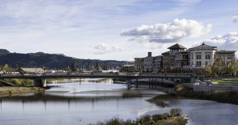 Stadt von Skylinen Napa Kalifornien stockfotos