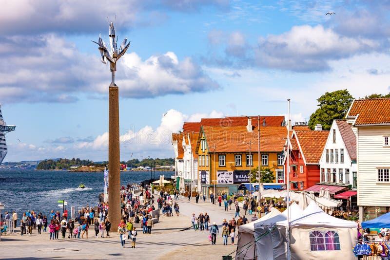 Stadt von Stavanger stockbild