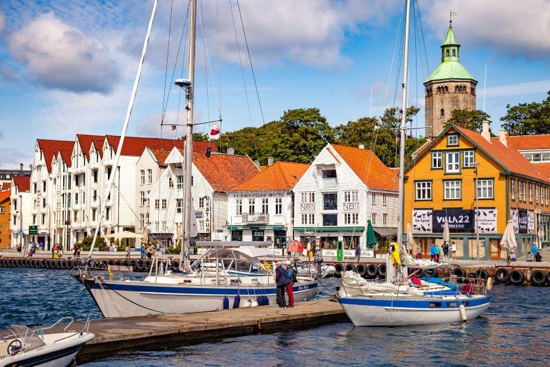 Stadt von Stavanger lizenzfreies stockbild