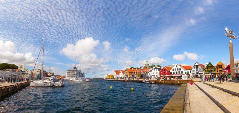 Stadt von Stavanger lizenzfreie stockbilder