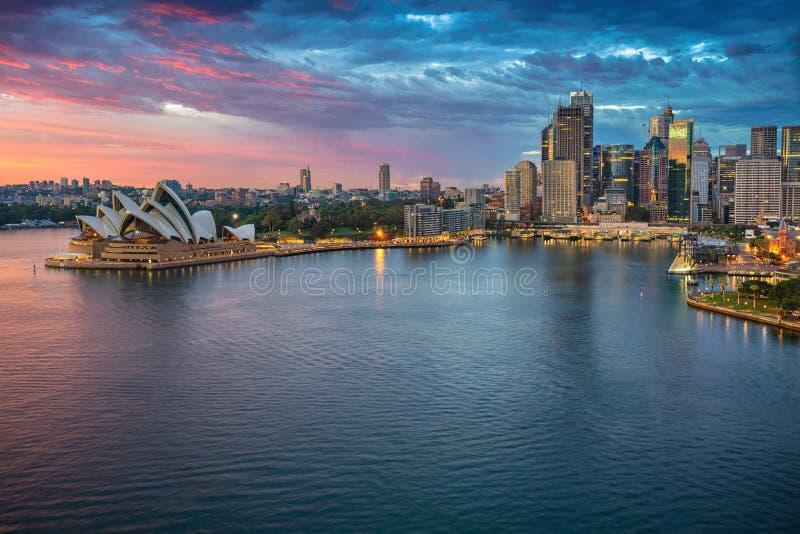 Stadt von Sydney stockfotografie