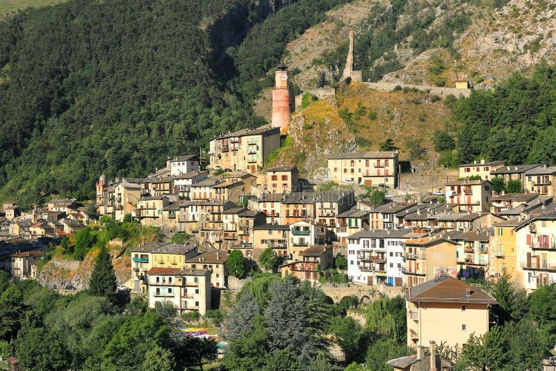 Stadt von Tende, Frankreich. stockfoto
