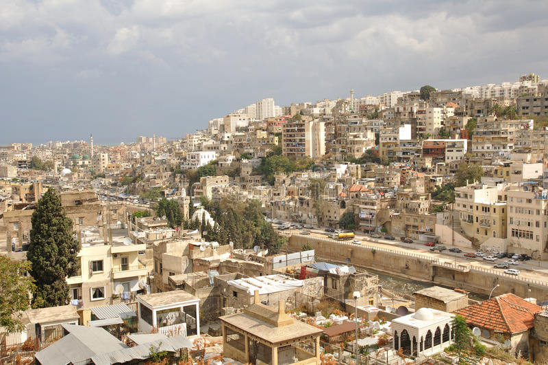 Stadt von Tripoli; Der Libanon stockbild
