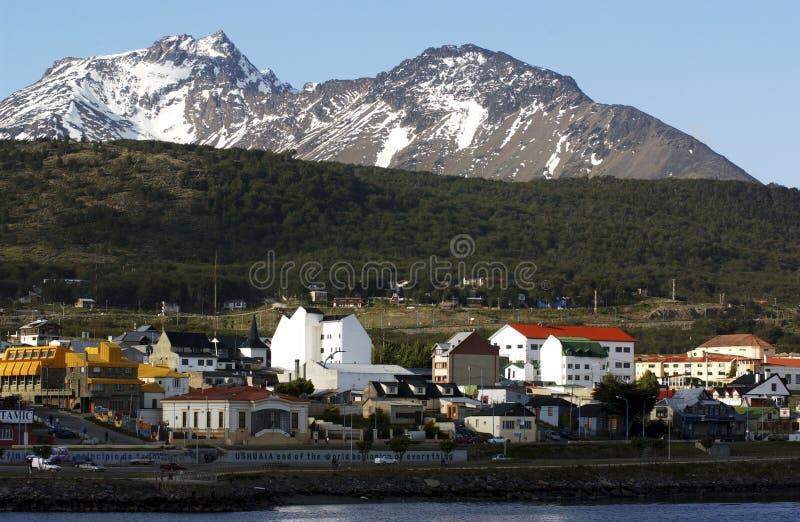 Stadt von ushuaia lizenzfreies stockbild