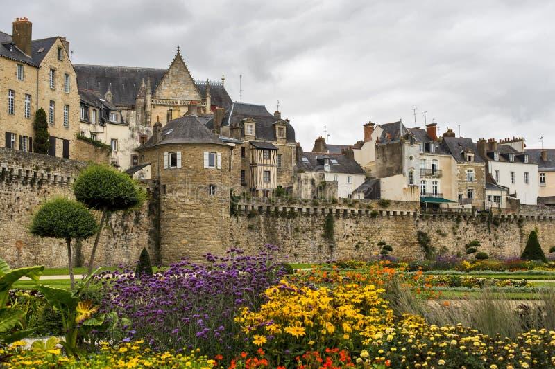 Stadt von Vannes in Bretagne lizenzfreies stockfoto