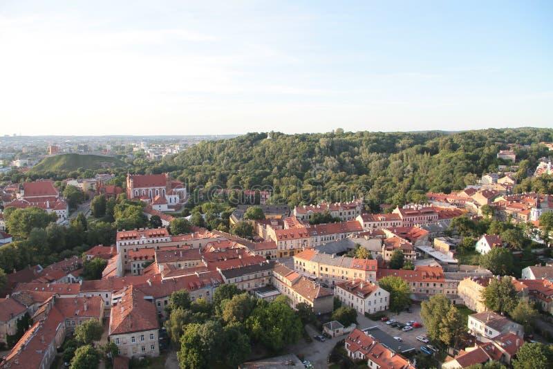Stadt von Vilnius u. von x28; Lithuania& x29; , Vogelperspektive stockfotos