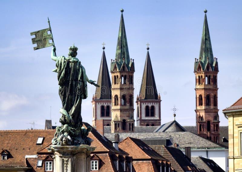 Stadt von Würzburg, Bayern lizenzfreie stockfotografie