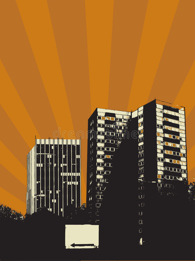 Stadt warm vektor abbildung