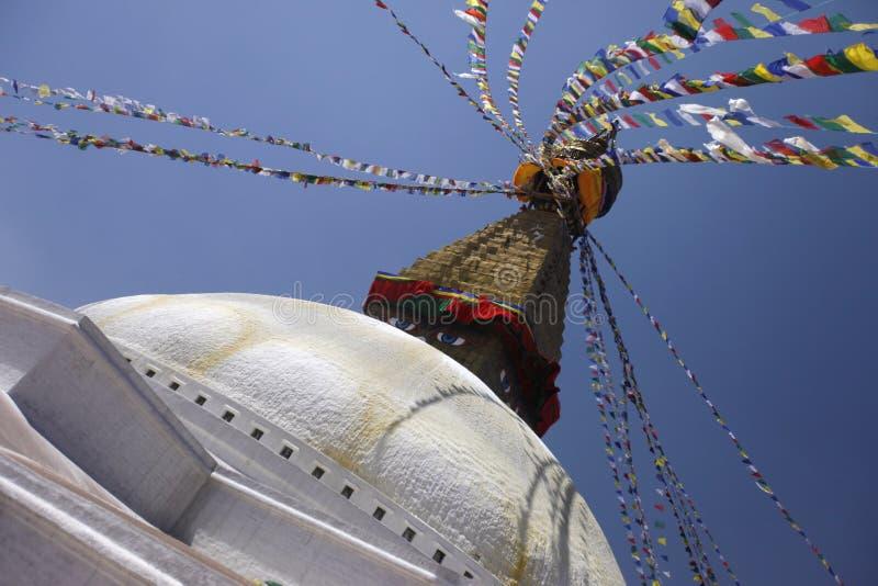 Stadt-Weg in Nepal stockbild