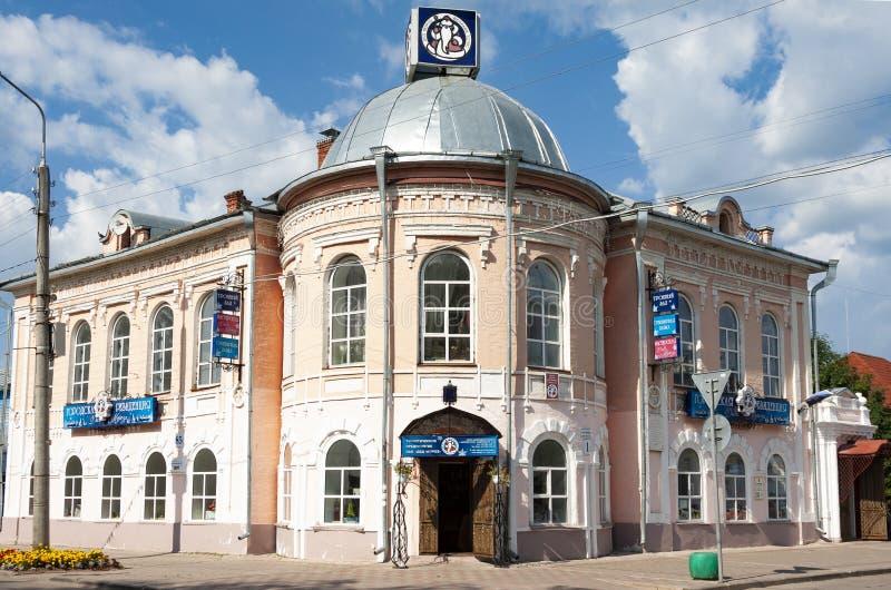 Stadt-Wohnsitz von Santa Claus in Veliky Ustyug, Vologda-Region lizenzfreies stockfoto