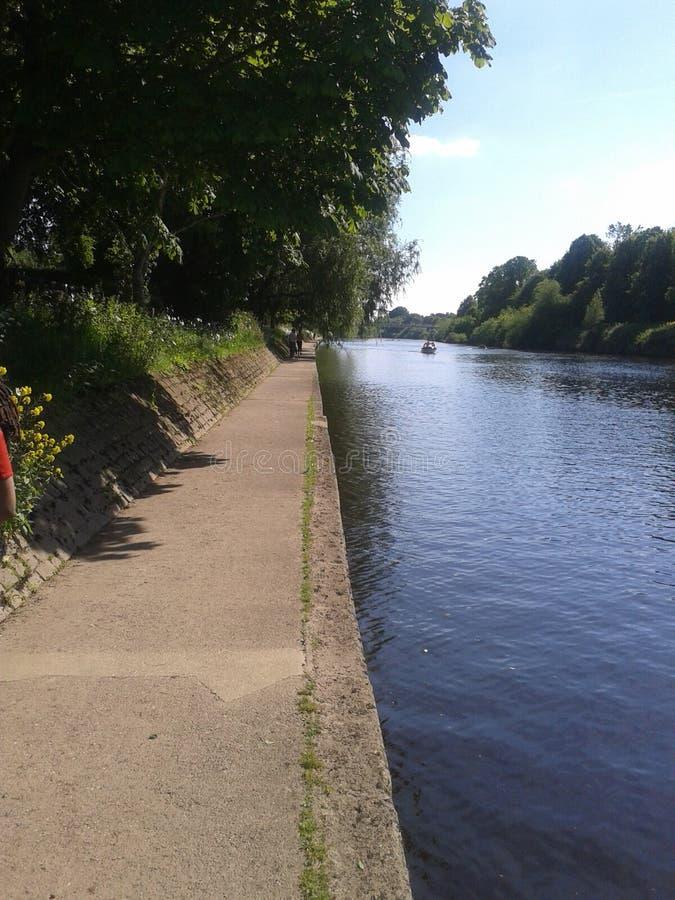 Stadt York-Flusses, York, North Yorkshire stockbild