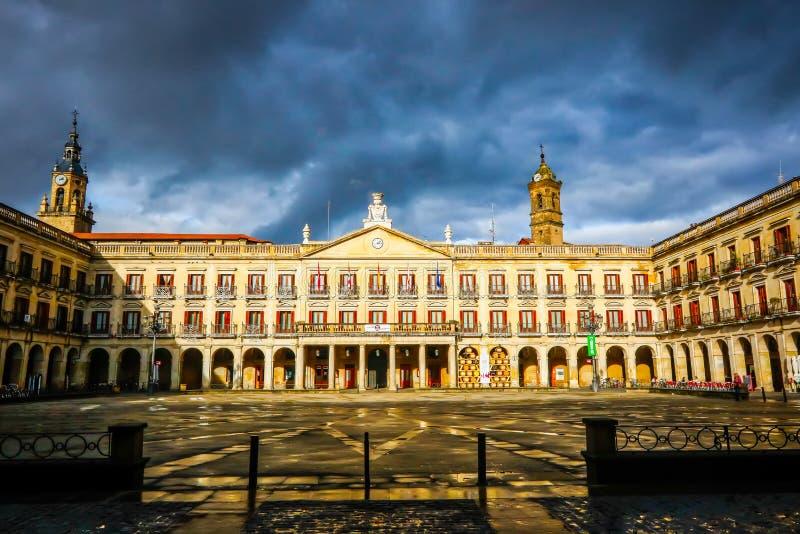 Stadtansicht Vitoria-Gasteiz, Spanien stockfotos