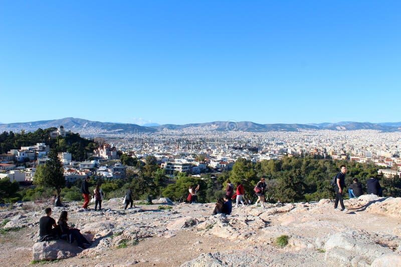Stadtansicht von Athen, Griechenland stockfotografie